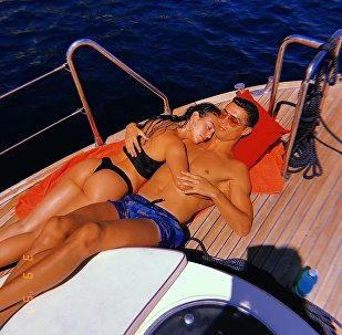 Cristiano Ronaldo relaxes on a boat with his stunning partner Georgina Rodriguez