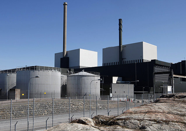 An exterior view of the Oskarshamn nuclear power plant in Oskarshamn, southeastern Sweden (File)