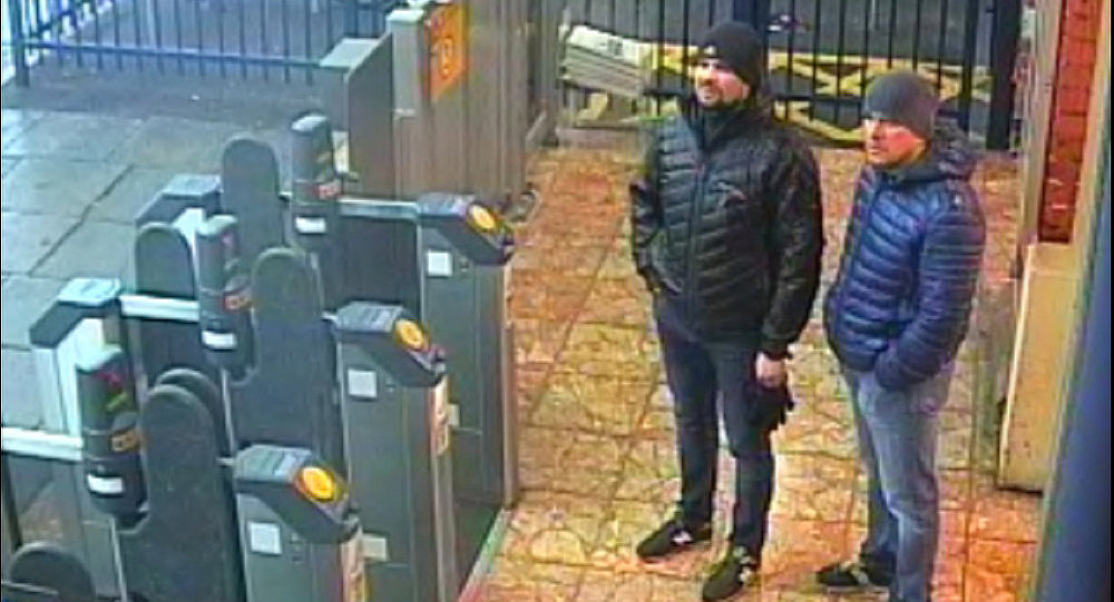 Alexander Petrov and Ruslan Boshirov, who were formally accused of attempting to murder former Russian intelligence officer Sergei Skripal and his daughter Yulia in Salisbury, are seen on CCTV at Salisbury Station on March 3, 2018 in an image handed out by the Metropolitan Police in London, Britain September 5, 2018