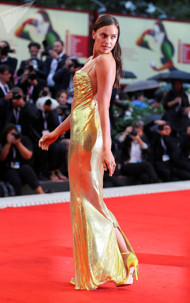 Model Irina Shayk at the opening ceremony of the 75th Venice International Film Festival.
