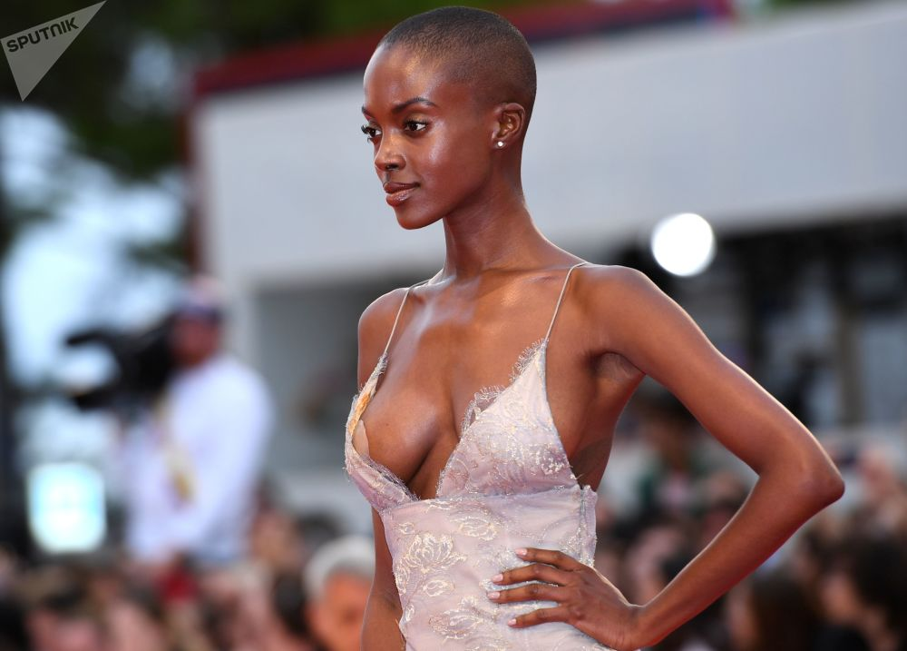 Model Madisin Rian at the premiere of Luca Guadagnino's film Suspiria at the 75th Venice International Film Festival.