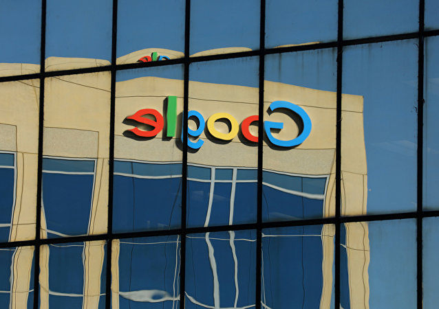 The Google logo is shown reflected on an adjacent office building in Irvine, California, U.S. August 7, 2017