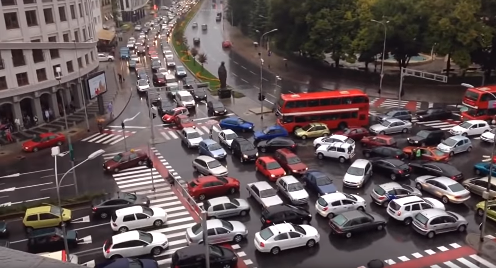 WWYD? Macedonia Motorists Caught in Traffic Jam
