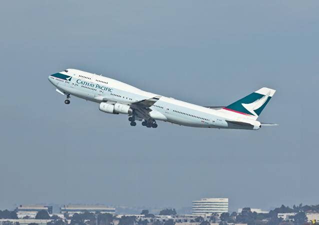 Cathay Pacific - B-HUF - Boeing 747-400 - San Francisco International Airport