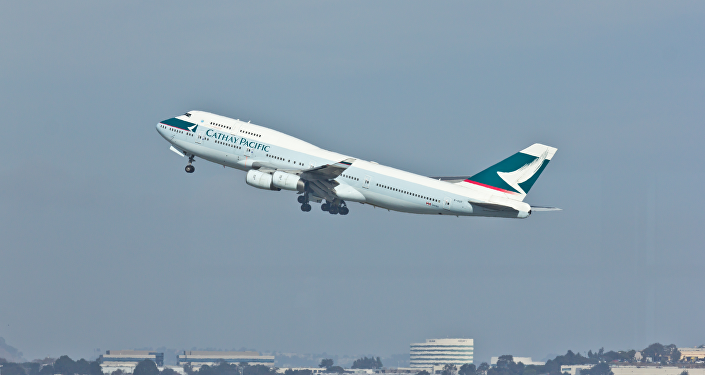 Cathay Pacific - B-HUF - Boeing 747-400 - San Francisco International Airport