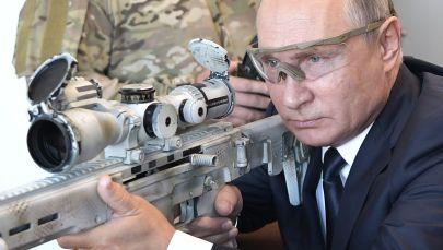 Vladimir Putin Trying Out Kalashnikov Concern's New Semi-Automatic Sniper Rifle