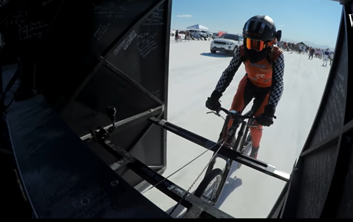 Bicyclist Pedaled 184 MPH