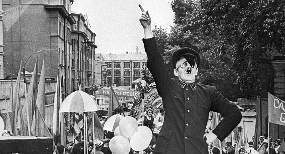 Street actor mocking Adolf Hitler (file photo).