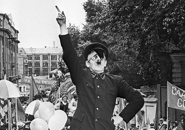 Street actor mocking Adolf Hitler (file photo).
