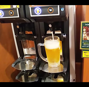 Japanese Self-pouring Beer Machine