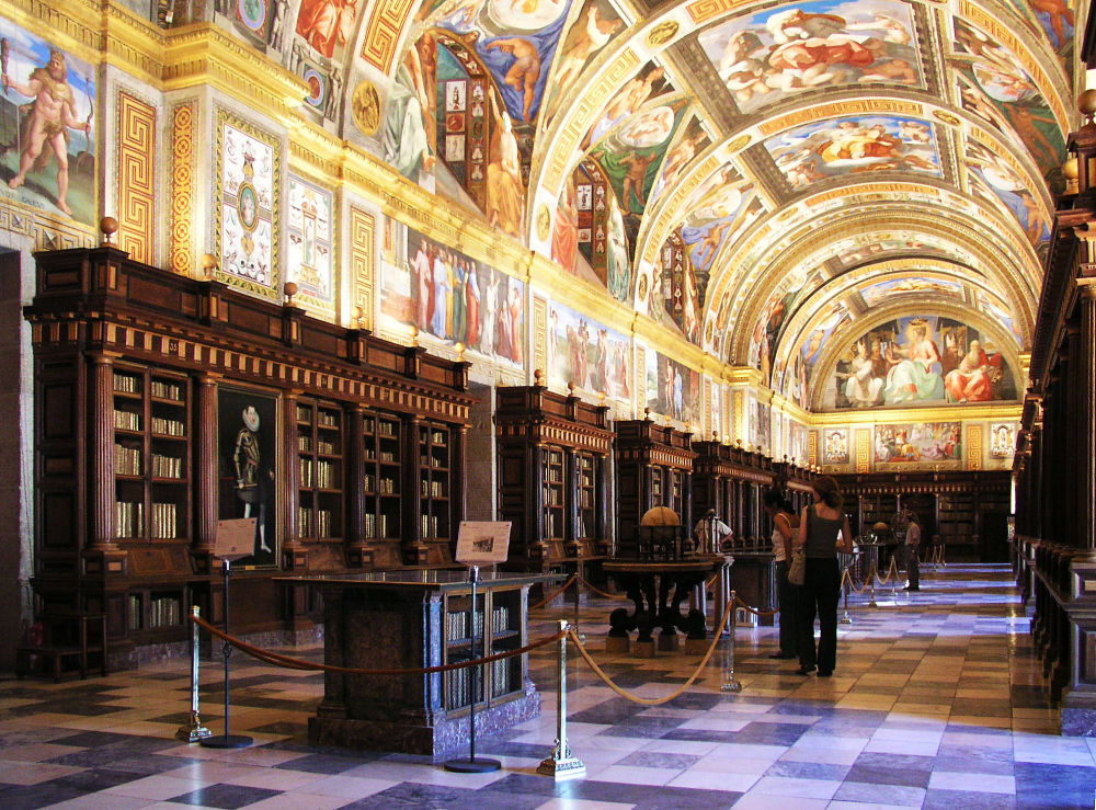 Library of Escorial, Spain