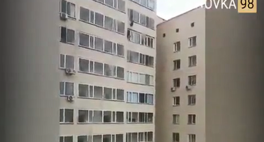 Man in Kazakhstan Grabs Child Falling From High-Rise Window in Midair (VIDEO)