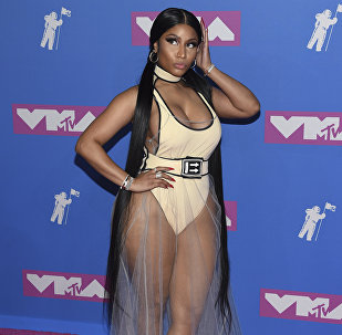 Nicki Minaj arrives at the MTV Video Music Awards at Radio City Music Hall on Monday, Aug. 20, 2018, in New York
