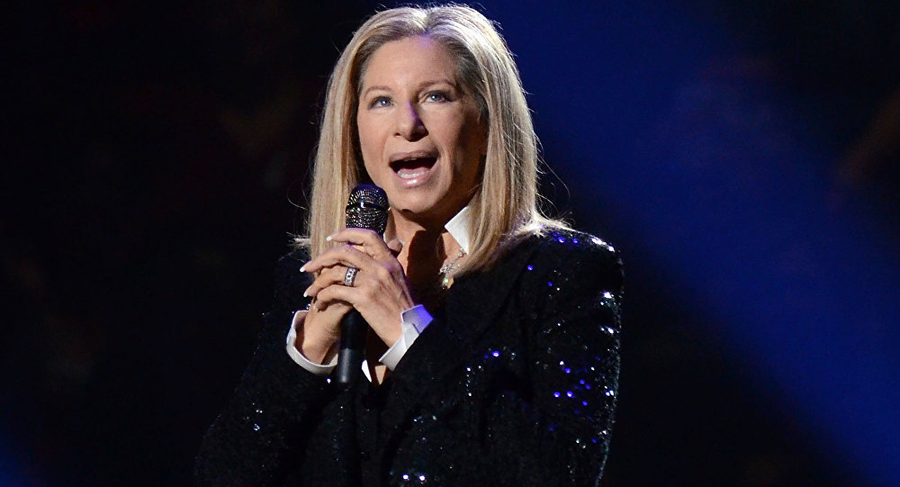 In this Oct. 11, 2012, file photo, singer Barbra Streisand performs at the Barclays Center in the Brooklyn borough of New York