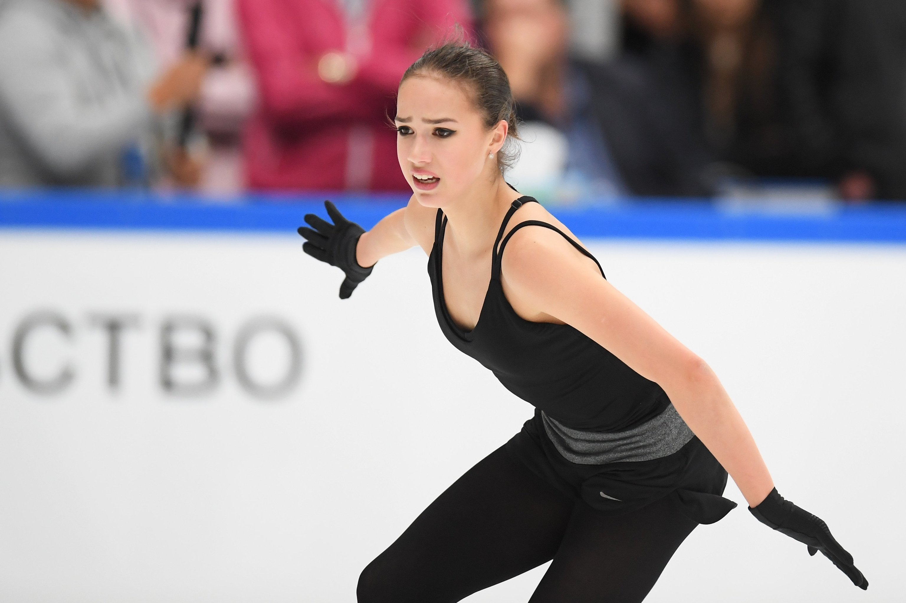 Alina Zagitova during the test skates of Russia's national team in Moscow on September 9