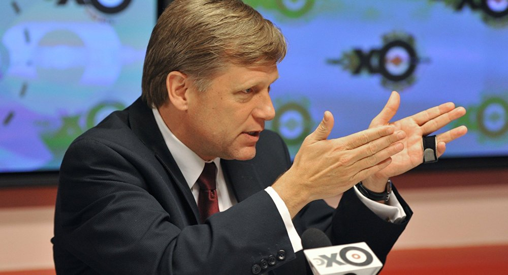 Michael McFaul back during his days as the US's ambassador to Russia.