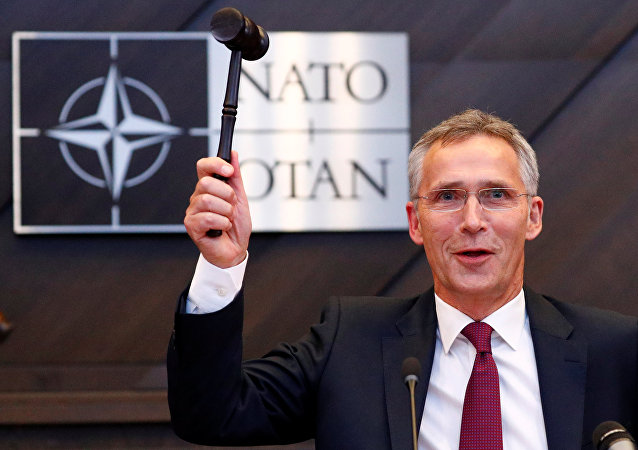 NATO Secretary General Jens Stoltenberg attends a NATO defense ministers meeting at the Alliance headquarters in Brussels, Belgium, October 3, 2018.