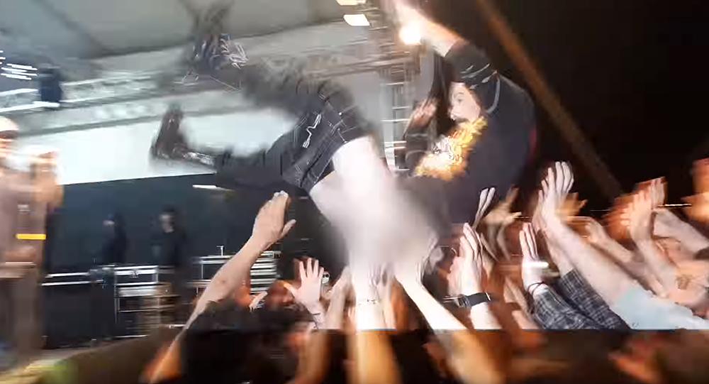 VIP Package? Audience Member's Wardrobe Malfunction Causes Crowd to Scatter
