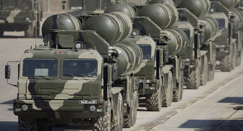 S-400s preparing for Victory Day at a training ground outside Moscow.