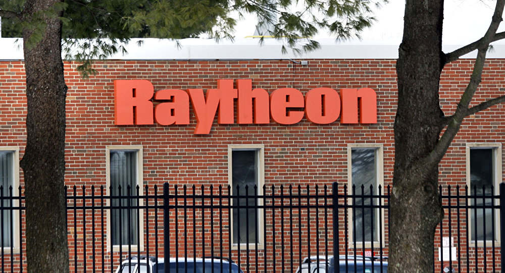 The exterior of Raytheon Co. in Sudbury, Mass. is seen Thursday, Jan. 29, 2009.