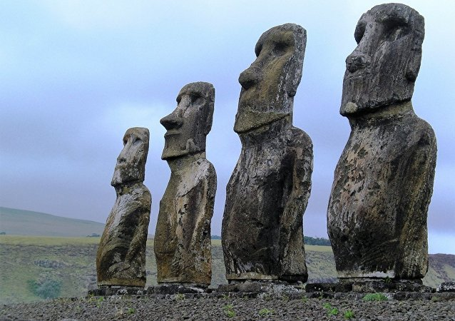 Moai statues on the Easter Island