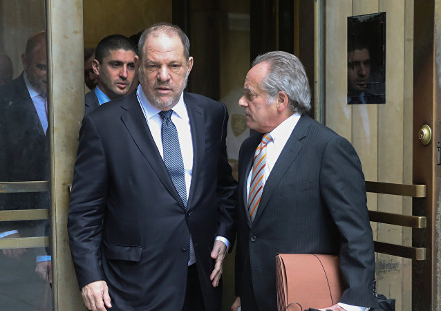 Film producer Harvey Weinstein exits New York Supreme Court with attorney Brafman in Manhattan in New York City.