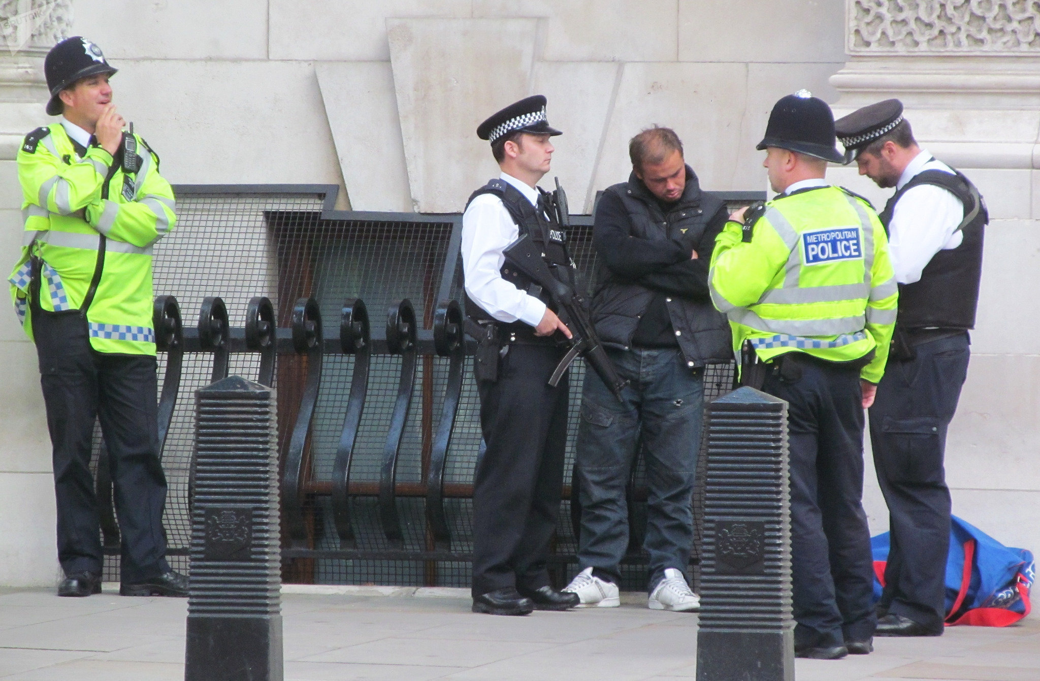 Armed Police arrest the Homeless