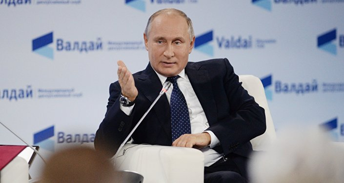 Vladimir Putin at Valdai Discussion Club Forum