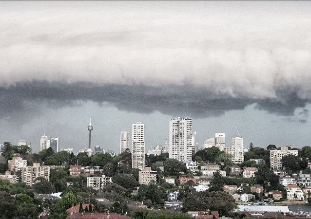 Storm in Wentworth Australia