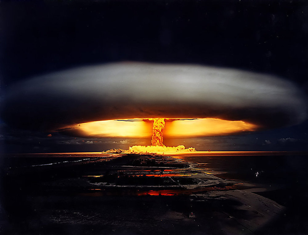 Licorne nuclear test – French Polynesia, 1970