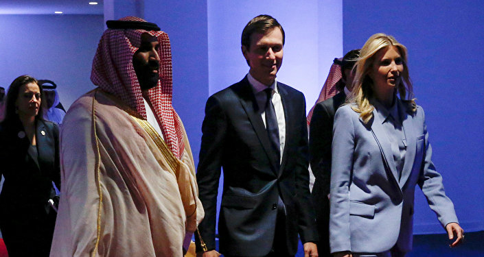 Saudi Arabia's Deputy Crown Prince Mohammed bin Salman escorts White House senior advisor Jared Kushner and his wife White House senior advisor Ivanka Trump at the Global Center for Combatting Extremist Ideology in Riyadh, Saudi Arabia May 21, 2017