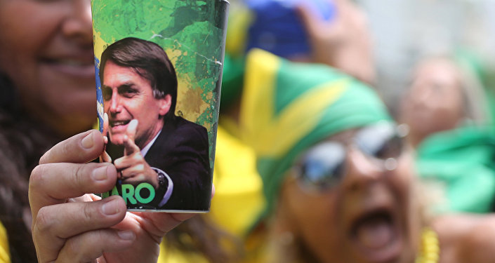A supporter of Jair Bolsonaro