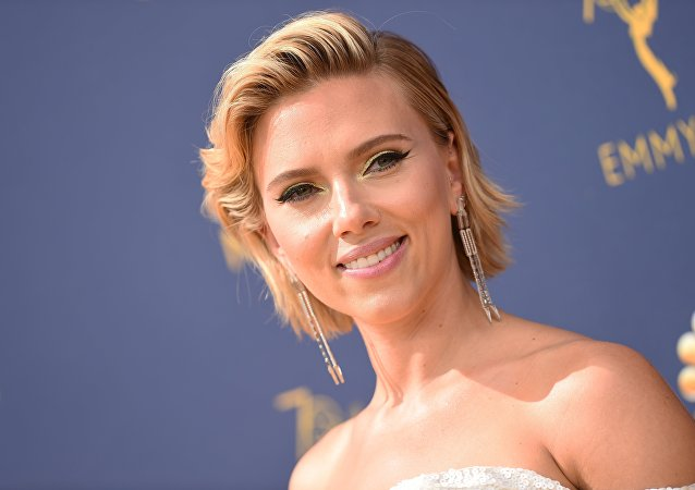 Scarlett Johansson arrives for the 70th Emmy Awards at the Microsoft Theatre in Los Angeles, California on September 17, 2018.
