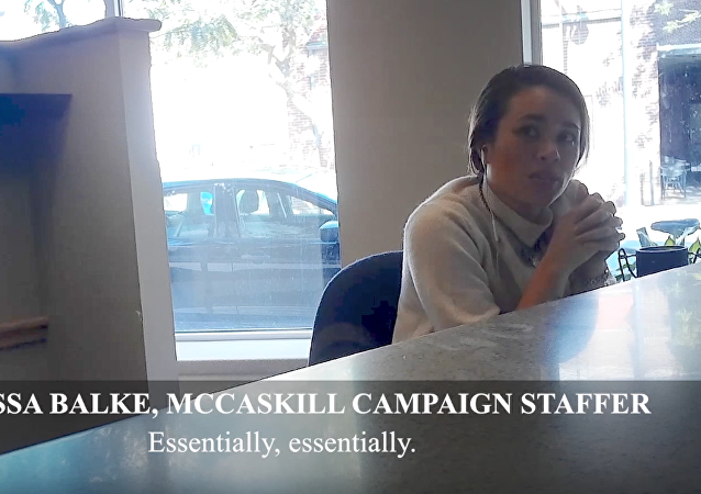 Melissa Balke, a campaign staffer for Missouri Senator Claire McCaskill, in a video filmed by Project Veritas