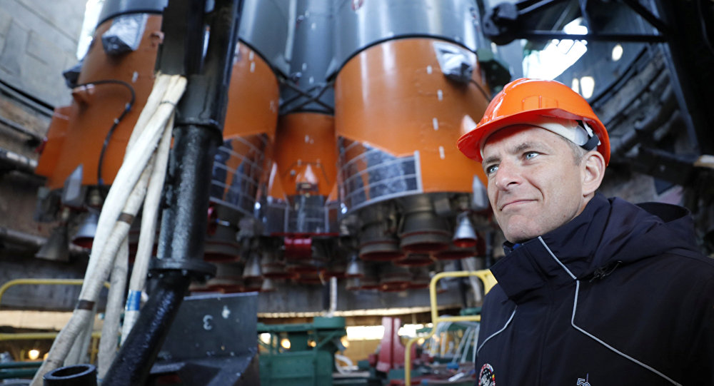 CSA astronaut David Saint Jacques at the Baikonur Cosmodrome, Kazakhstan, 09 October 2018