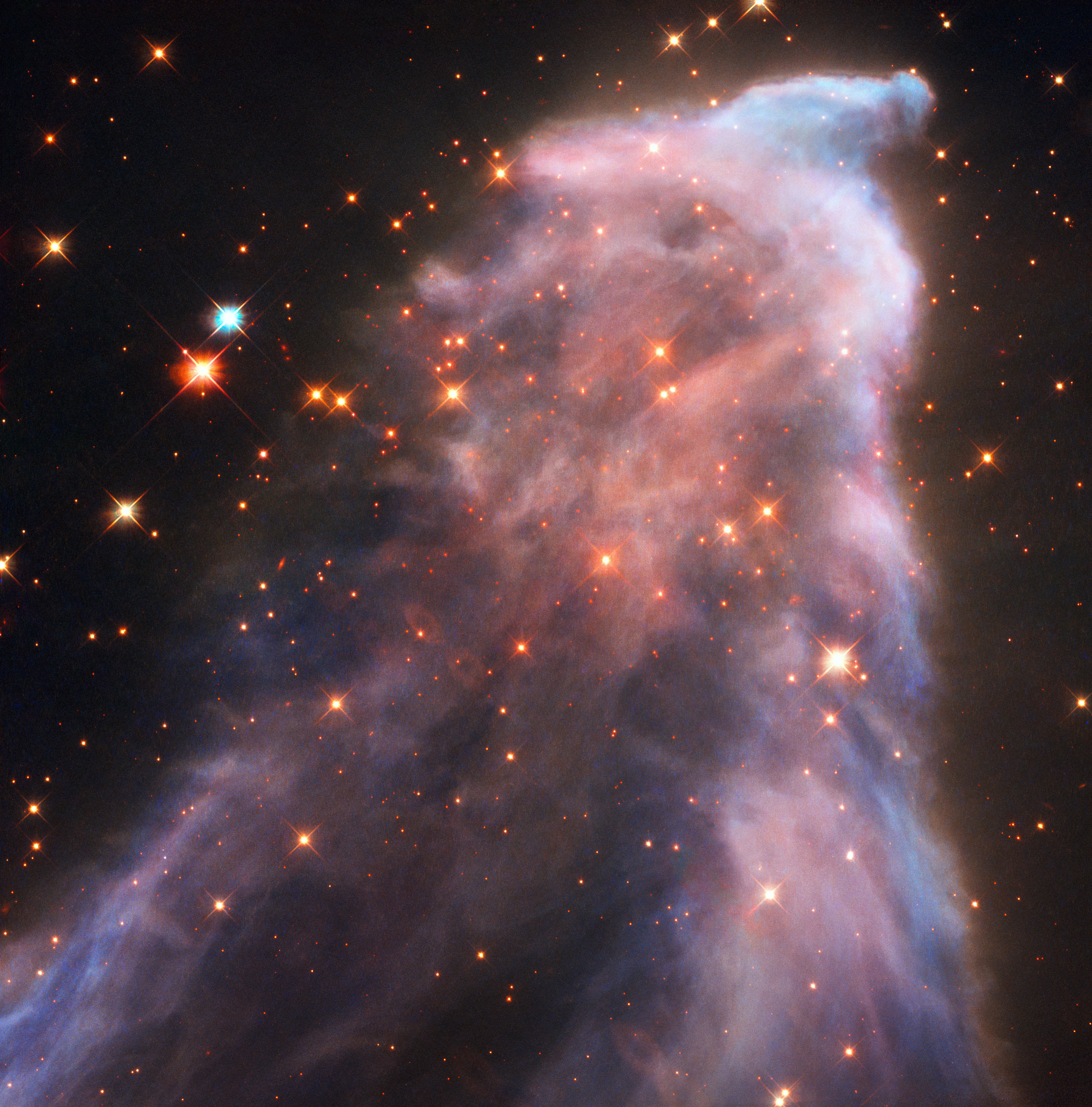 The Hubble Space Telescope captures new photos of the Ghost Nebula.