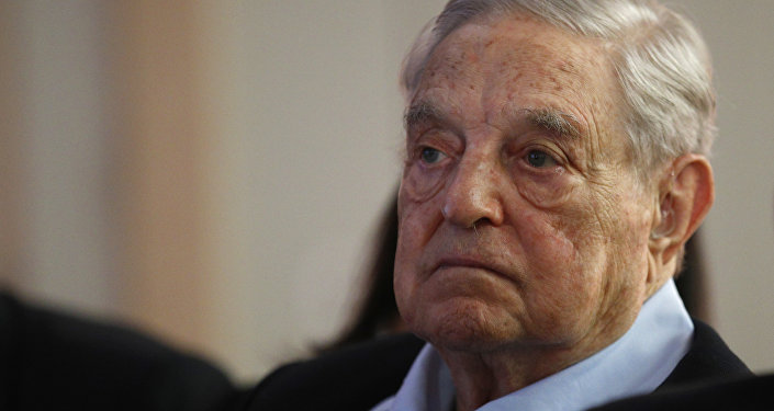 George Soros, Founder and Chairman of the Open Society Foundations listens to the conference after his speech entitled How to save the European Union as he attends the European Council On Foreign Relations Annual Council Meeting in Paris, Tuesday, May 29, 2018