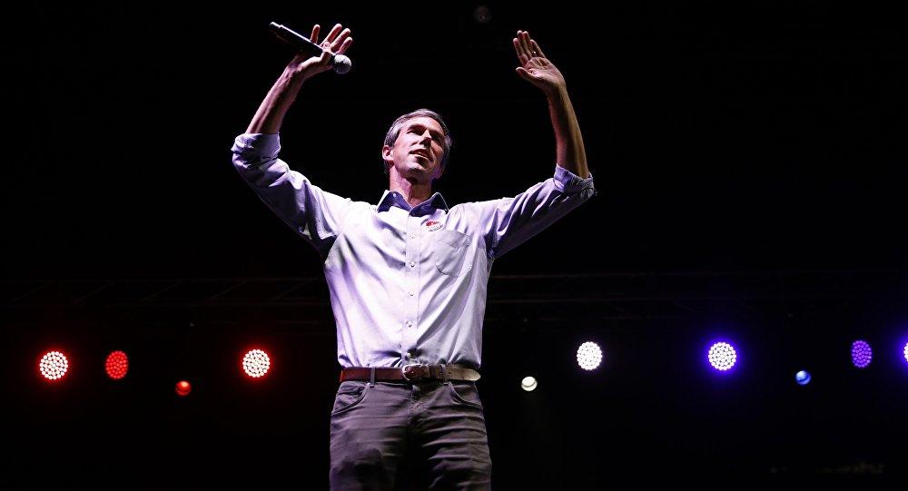 Democratic Texas U.S. Senate candidate Rep. Beto O'Rourke gestures as he concedes to Senator Ted Cruz at his midterm election night party in El Paso, Texas, U.S., November 6, 2018