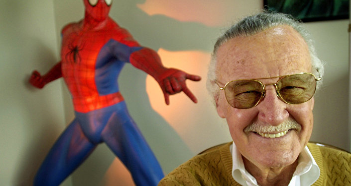 Stan Lee 79 creator of comic-book franchises such as Spider-Man The Incredible Hulk and X-Men smiles during