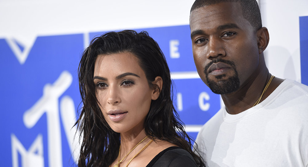 Kim Kardashian West, left, and Kanye West arrive at the MTV Video Music Awards at Madison Square Garden on Sunday, Aug. 28, 2016, in New York.