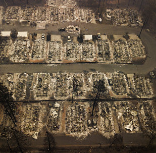 Residences were leveled by the wildfire in Paradise, Calif., on Thursday, Nov. 15, 2018. The California Department of Forestry and Fire Protection said Thursday the wildfire that destroyed the town of Paradise is now 40 percent contained, up from 30 percent Wednesday morning.