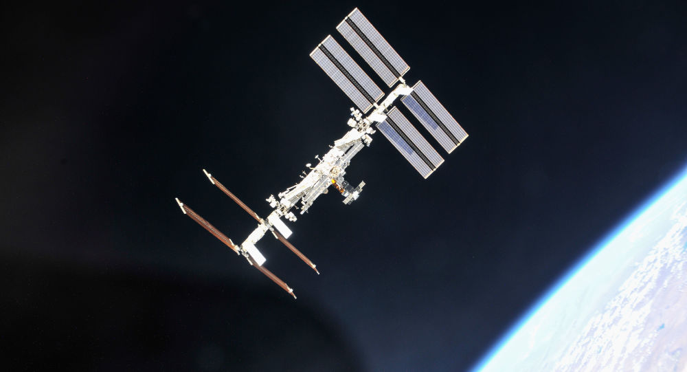 The International Space Station photographed from a Soyuz spacecraft