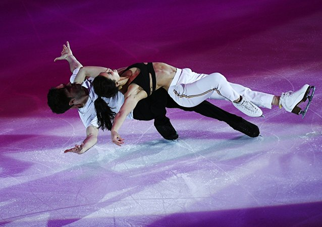 Sofia Evdokimova and Egor Bazin during their exhibition gala at the Rostelecom Cup in Moscow