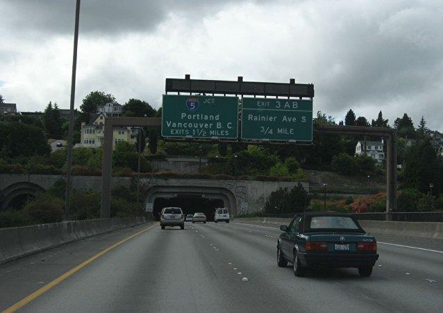 Interstate 90, Seattle, Washington