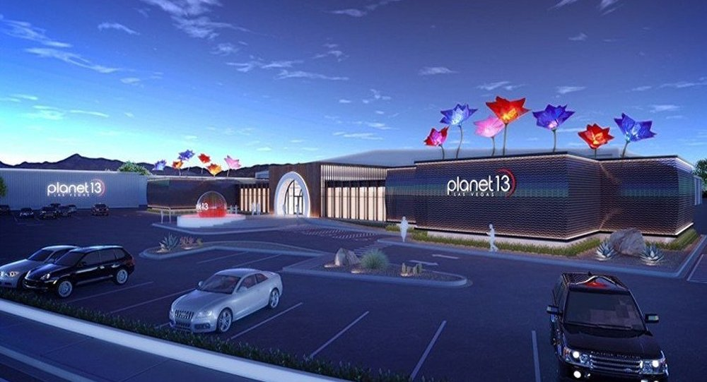 Planet 13, the purportedly the world's biggest pot dispensary, opened in Las Vegas, Nevada