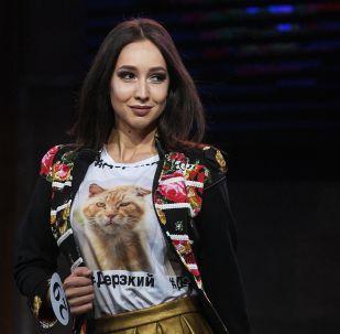 Участница во время финалов всероссийских конкурсов красоты «Топ модель России 2018» и «Топ модель PLUS 2018» в Korston Club Hotel в Москве