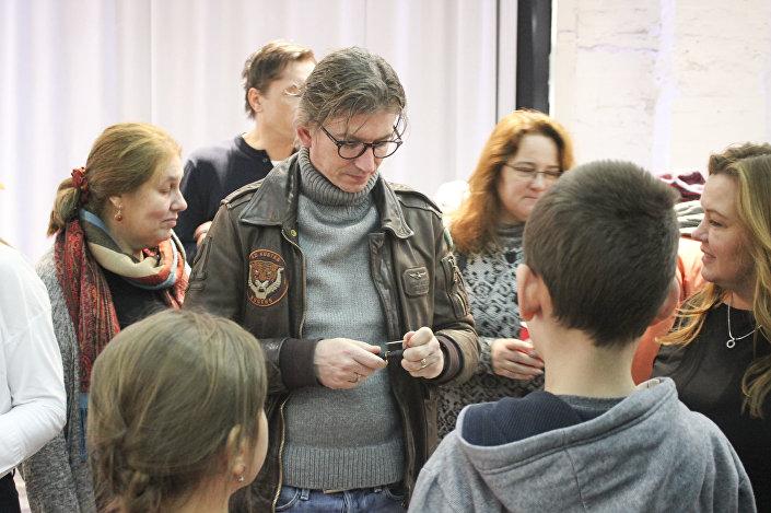 Czech Filmmaker Jiří Strach visiting Monarchy festival. Moscow, 2018