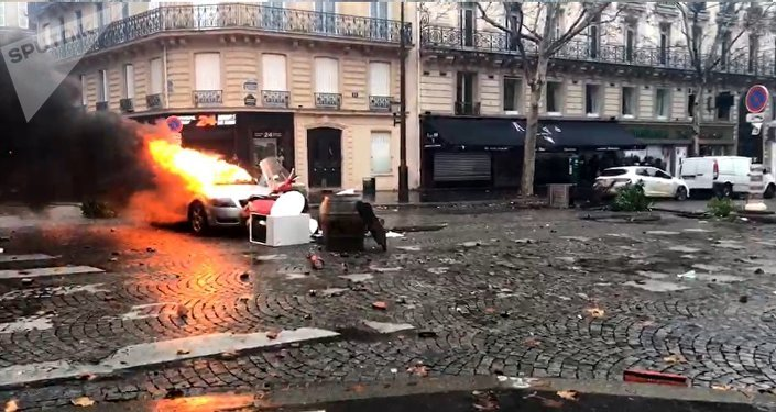 Yellow vests protests in Paris, December 1, 2018
