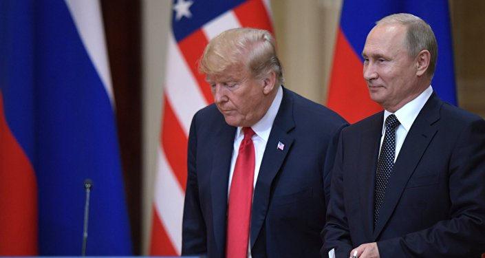 Vladimir Putin and Donald Trump in Helsinki