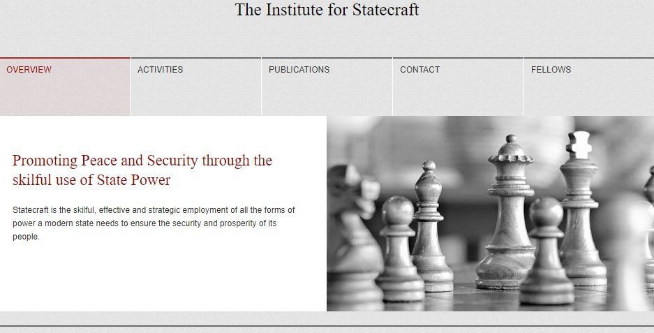 The Institute for Statecraft's Website © IfS 2018